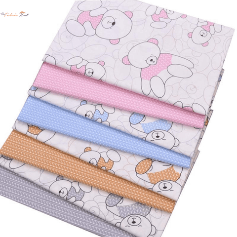 Fat Fifth Bundle - Cartoon Bear Collection - Set Of 40 - The Fabric Hut