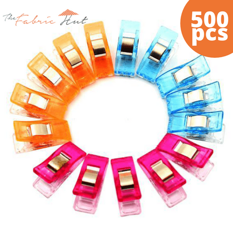 The Fabric Hut Binding Clips 500 Mega Pack - The Fabric Hut