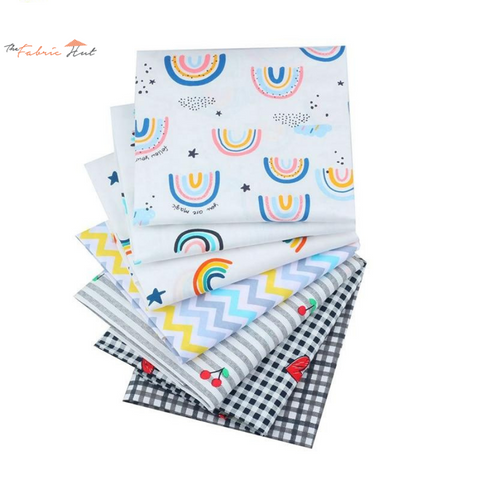 Fat Fifth Bundle - Rainbow Collection - Set of 7 - The Fabric Hut