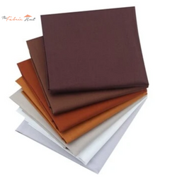 Fat Fifth Bundle - Solid Brown Collection - Set of 7 - The Fabric Hut