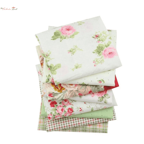 Fat Fifth Bundle - Green Floral Collection - Set of 8 - The Fabric Hut
