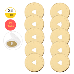 28mm Titanium Coated Rotary Cutter Blades For OLFA and Fiskars - Buy 15 Get 35 Free - The Fabric Hut