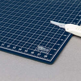 "40"" x 60"" WHITE/BLUE Professional Self Healing 5-6 Layer Double Sided Cutting Mat - The Fabric Hut"