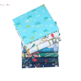 Fat Fifth Bundle - Blue Flower Collection - Set of 7 - The Fabric Hut