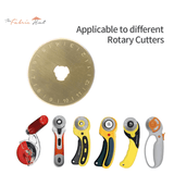 45mm Titanium Coated Rotary Cutting Blades - Pack Of 30 + Free Rotary Cutter - The Fabric Hut