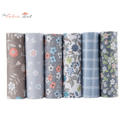 Fat Fifth Bundle - Grey Floral Set of 6