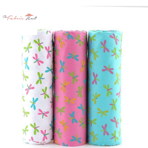 Fat Fifth Bundle - Dragonfly Print Cotton Collection - Set of 45 - The Fabric Hut