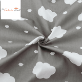 Fat Fifth Bundle - Clouds in Gray Collection - Set of 3 - The Fabric Hut