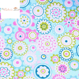 Cool Pastel Party in Blue - 1/2 Yard