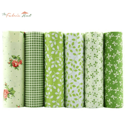 Fat Fifth Bundle - Green Floral Cotton Collection - Set of 6 - The Fabric Hut