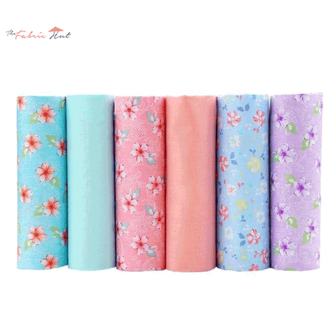 Fat Fifth Bundle - Flower and Solid Collection - Set of 6