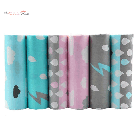 Fat Fifth Bundle - Raindrops Collection - Set of 6