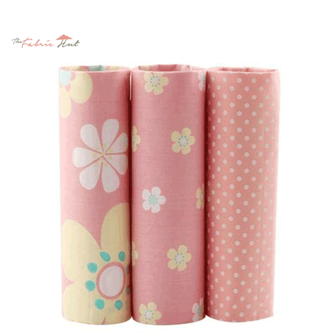 Fat Fifth Bundle - Wildflower Peach Fabric Collection - Set of 3 - The Fabric Hut