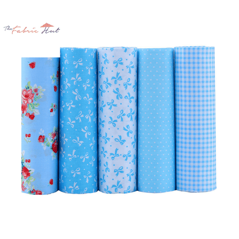 Fat Fifth Bundle - Blue Collection - Set of 5 - The Fabric Hut
