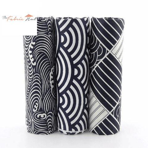 Fat Fifth Bundle - Deep Blue Collection - Set of 3 - The Fabric Hut