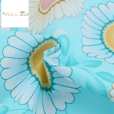 BLUE DAISY FLORAL MEDLEY COLLECTION - 1/2 YARD - The Fabric Hut