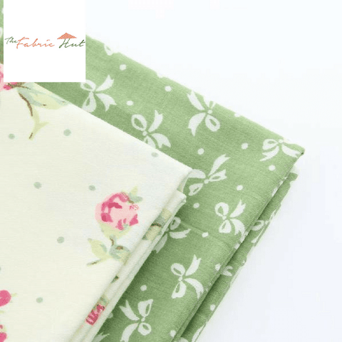 Fat Fifth Bundle - Green Bow and Vanilla Rosa Collection - Set of 2 - The Fabric Hut