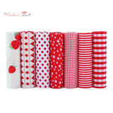 Fat Fifth Bundle - Red Collection - Set of 7 - The Fabric Hut