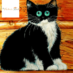 Diamond Painting Cat On Wooden