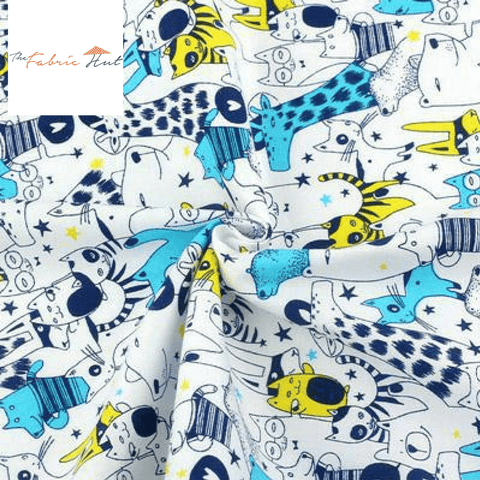 BLUE RETRO - 1/2 YARD - The Fabric Hut