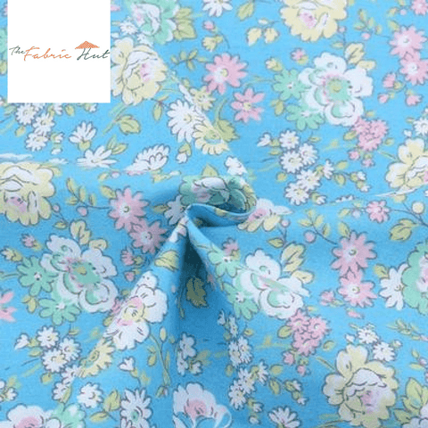 Blue Spring Collection In The Field - 1/2 Yard - The Fabric Hut