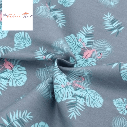 BLUE SPRING COLLECTION TROPICS - 1/2 YARD - The Fabric Hut