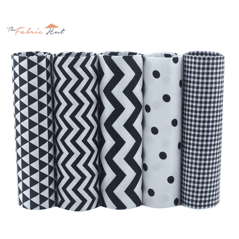 Fat Fifth Bundle - Black Collection - Set of 5 - The Fabric Hut