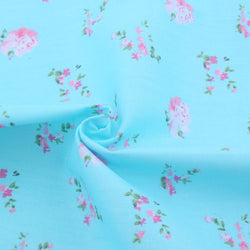 Blue Flowers in the Field - 1/2 Yard - The Fabric Hut