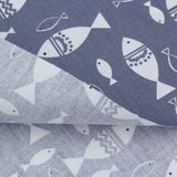 FISH IN GRAY - 1/2 YARD - The Fabric Hut