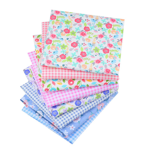 Fat Fifth Bundle - Flowers and Checkered Collection - Set of 8 - The Fabric Hut