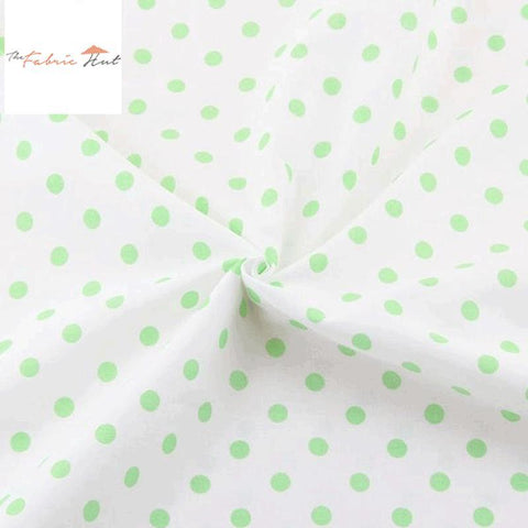 PASTEL GREEN POLKA DOTS - 1/2 YARD - The Fabric Hut