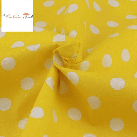 SUNFLOWER YELLOW POLKA DOTS - 1/2 YARD