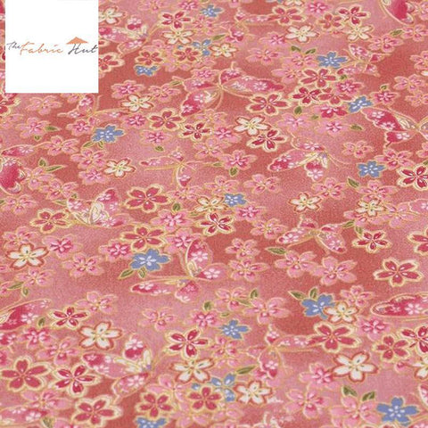 Vintage Floral in Red - 1/2 Yard - The Fabric Hut