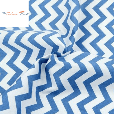 BLUE ZIGZAG - 1/2 YARD - The Fabric Hut