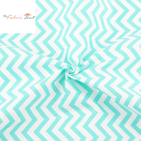 BLUE ZIG ZAG - 1/2 YARD - The Fabric Hut