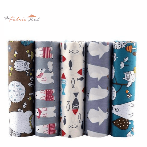 Fat Fifth Bundle - Artic Cartoon Collection - Set of 5 - The Fabric Hut