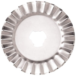 Decorative Rotary Pinking Blades, 45mm - Pack of 10 - The Fabric Hut