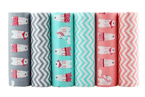 Fat Fifth Bundle - Bears and Zigzag Collection - Set of 6 - The Fabric Hut