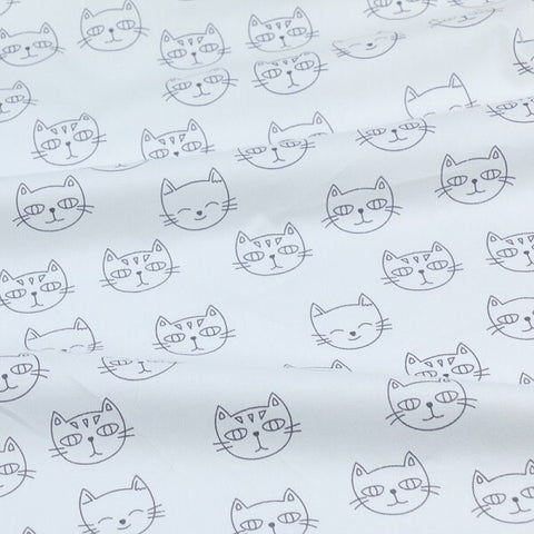 Printed Cats Kids Twill Cotton Fabric - 1 Yard - The Fabric Hut