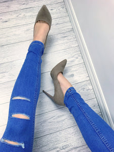 Women's Blue Ripped High Waisted Distressed Skinny Jeans | Boutique