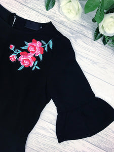 Women's Black Floral Going Out Party Top | Online Clothing Boutique