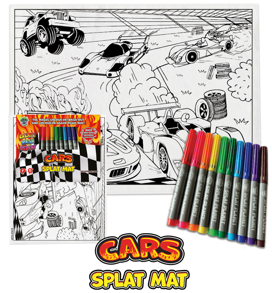 kids, children, chlidrens, colour in t-shirt, eatsleepdoodle, eat sleep doodle, grafix,  splat planet, color in t-shirt, color in t shirt, placemat, place mat, keep kids busy, cars placemat, Ferrari kids, Porsche, kids Range Rover, colour in car, t shirt, rainbow, rainbow colouring, Unicorn colouring, Unicorn coloring, personalise, Magic, kids gift, unique present, magic t-shirt, magic placemat, splat mat, splat planet,