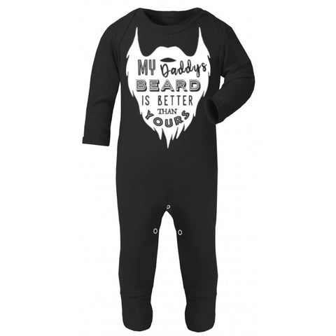 Hipster kids Baby, My Daddy's Beard is Better than yours Unique baby gift, Black Body Suit Romper