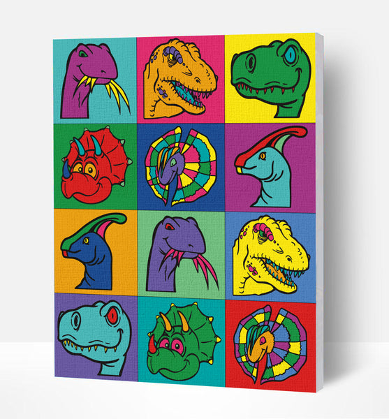 Dinosaur paint by number, Dinosaur painting, Dinosaur painting for kids, Dinosaur painting easy, Dinosaur painting by numbers uk, Dinosaur painting set, washable acrylic paints, Dinosaur gifts for boys, paint by number on canvas, paint by numbers ready for wall mounting, paint by numbers for kids, paint by numbers for beginners, paint by numbers for children, paint by numbers with frame,