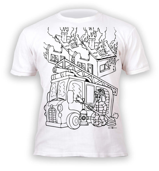 kids, children, chlidrens, colour in t-shirt, art2colour, art 2 colour, splat planet, Butterflies, colouring, colour in, personalise, Magic, Fireman Sam