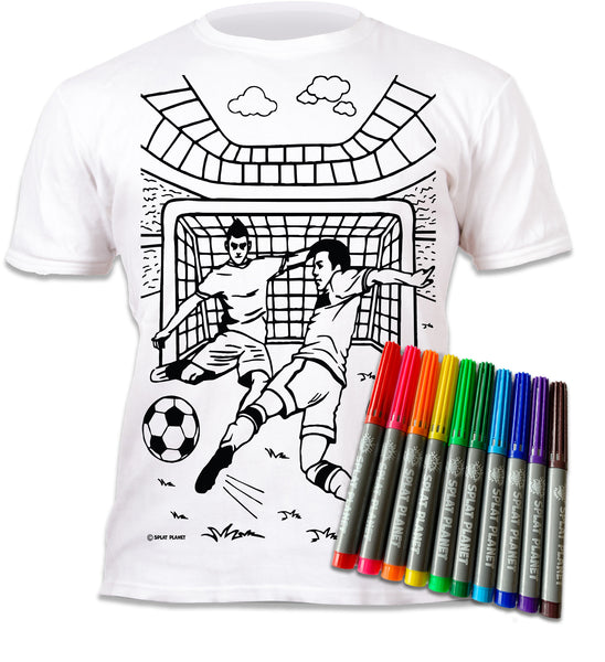 kids, children, eatsleepdoodle, eat sleep doodle, grafix, chlidrens, colour in t-shirt, art2colour, art 2 colour, splat planet, colouring, colour in, washable pens, magic, toddlers, Kids, magic, footy colouring, Football colouring, Football, arsenal colouring, arsenal, Tottenham, West Ham, Liverpool, man united, Manchester United, swindon, Watford, Chelsea, Manchester City, Man City, Leeds, team, player, goal, score, fabric pens, boys, girls, toddlers, gift, christmas present,