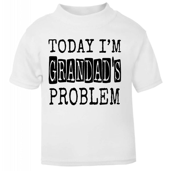 Today Im grandads problem bib, Today Im grandads problem, Funny baby gift, funny baby clothes, funny baby bib, funny baby shower gifts, funny baby grow, baby bibs, baby bibs newborn,