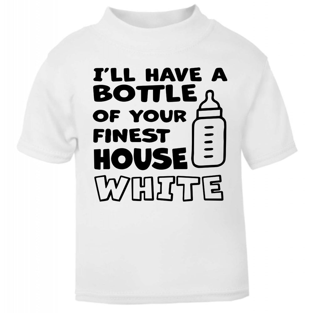 ill have a bottle of your finest house white, Funny baby gift, funny baby clothes, funny baby bib, funny baby shower gifts, funny baby grow, baby bibs, baby bibs newborn,