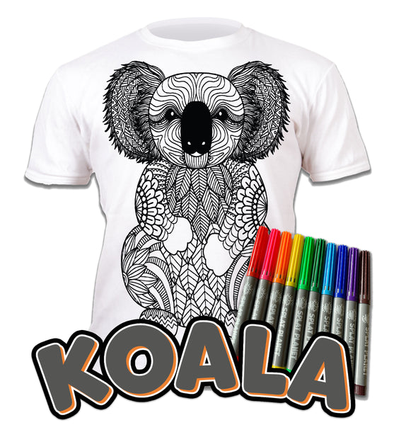 kids, children, chlidrens, eatsleepdoodle, eat sleep doodle, grafix, colour in t-shirt, art2colour, art 2 colour, splat planet, color in t-shirt, color in t shirt, Flamingo, Animal, Llama, Koala, Aussie, Australia, No drama llama, Zoo, colouring, colour in, personalise, Magic, kids gift, unique present, magic t-shirt, magic t-shirt