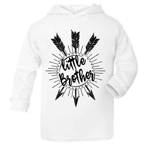 Hipster Cute kids children baby Hoodie, Little Brother Unique baby gift, White Kids Hoodie
